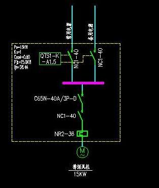 海湾消防风机接线图