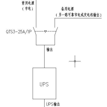 2.ups前端两路电源转换